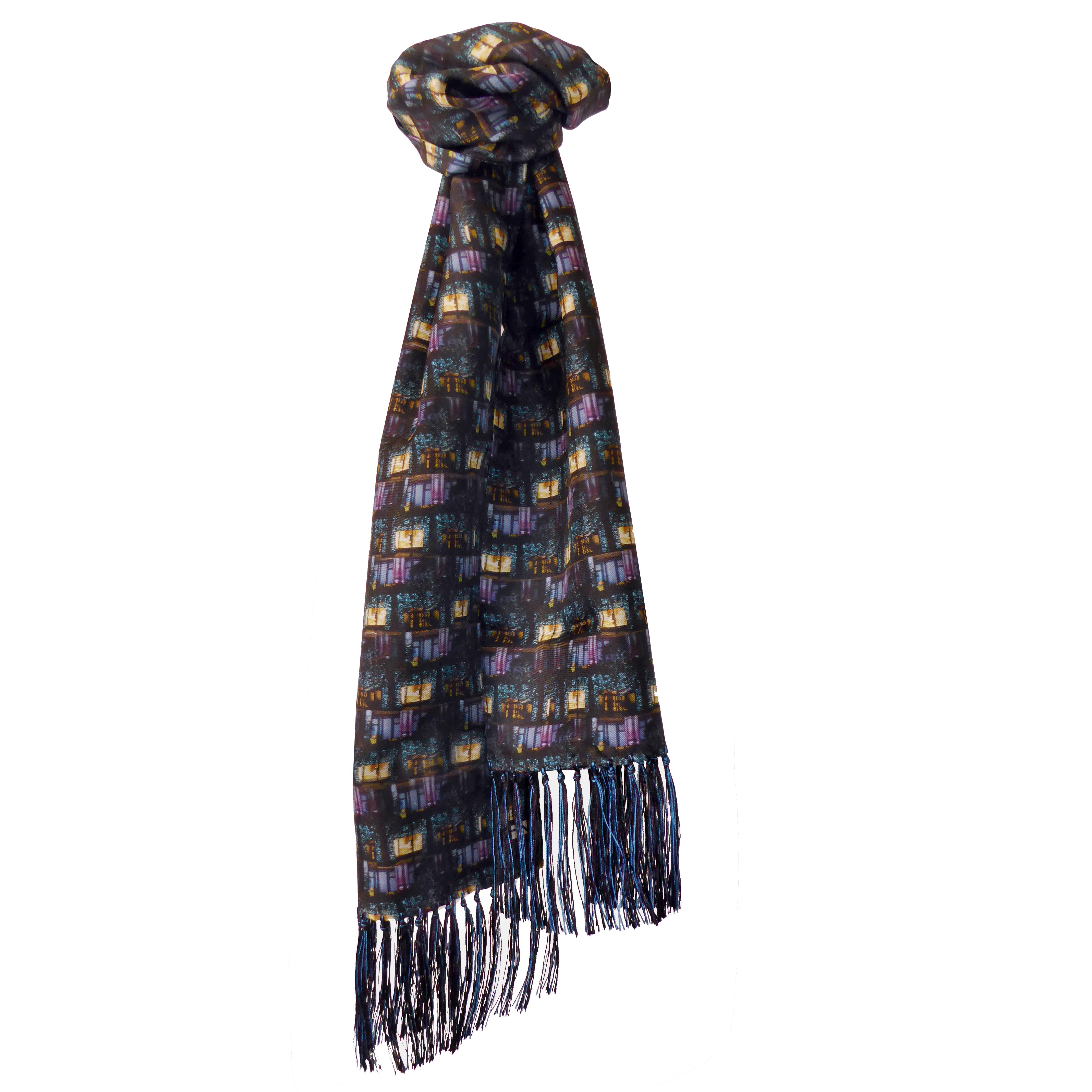 Oxford St Xmas Tartan Mens Silk Scarf – 120cms/180cms