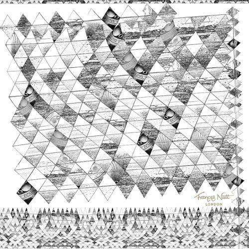 Sea Diamond Black & White ~ Pocket Square