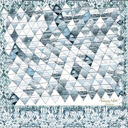 Sea Diamond Teal ~ Pocket Square