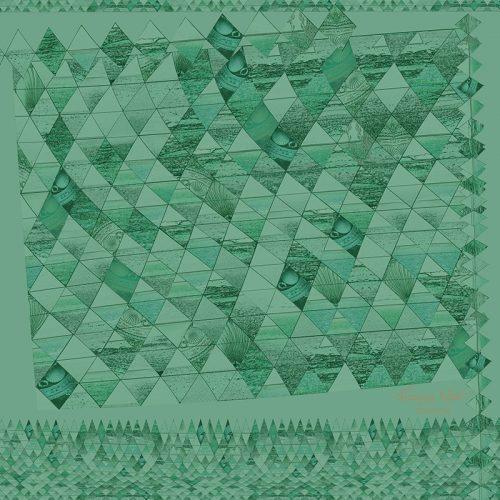 Sea Diamond Green ~ Pocket Square