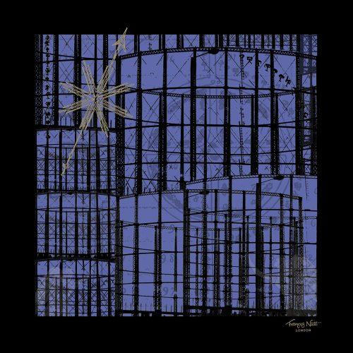 Frances Nutt London ~ Pocket Square ~ Gas Angels ~ Midnight