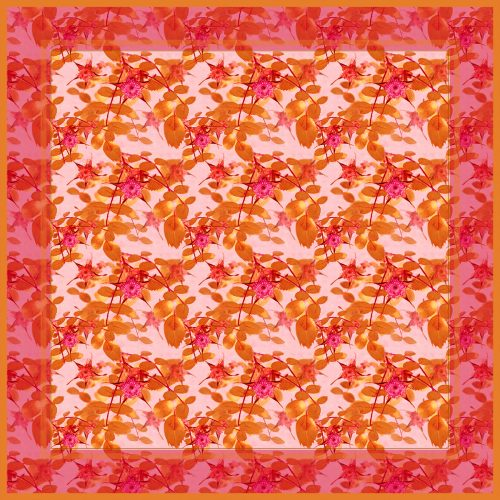 Frances Nutt London ~ Pocket Square ~ Rose Star