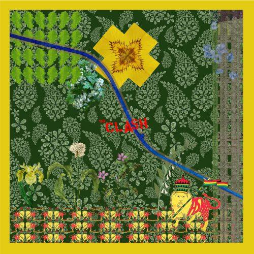 Meanwhile Gardens ~ Green ~ punky reggae version ~ pocket square